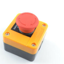 1pcs Emergency Stop Push Button Box 10a 66x66x81mm Red Sign Switch Waterproof