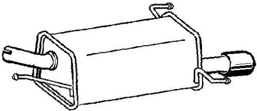 GM632X END SILENCER FOR OPEL CORSA 1.2 2000-2009