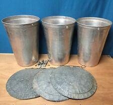 3 Lids GRIMM COVERS 3 MAPLE SYRUP Aluminum Sap Buckets 3 TAPS Spiles Spouts