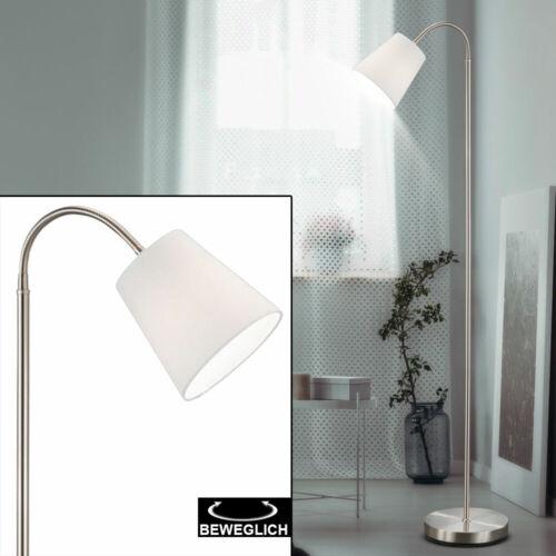 Luxus Steh Lampe Schlaf Zimmer Textil Schirm Stand Leuchte Decken Fluter Flexo