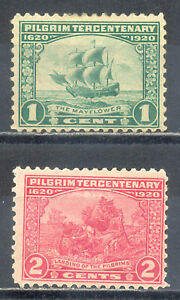US-Stamp-L254-Scott-548-549-Mint-HR-OG-Nice-Vintage-Commemoratives