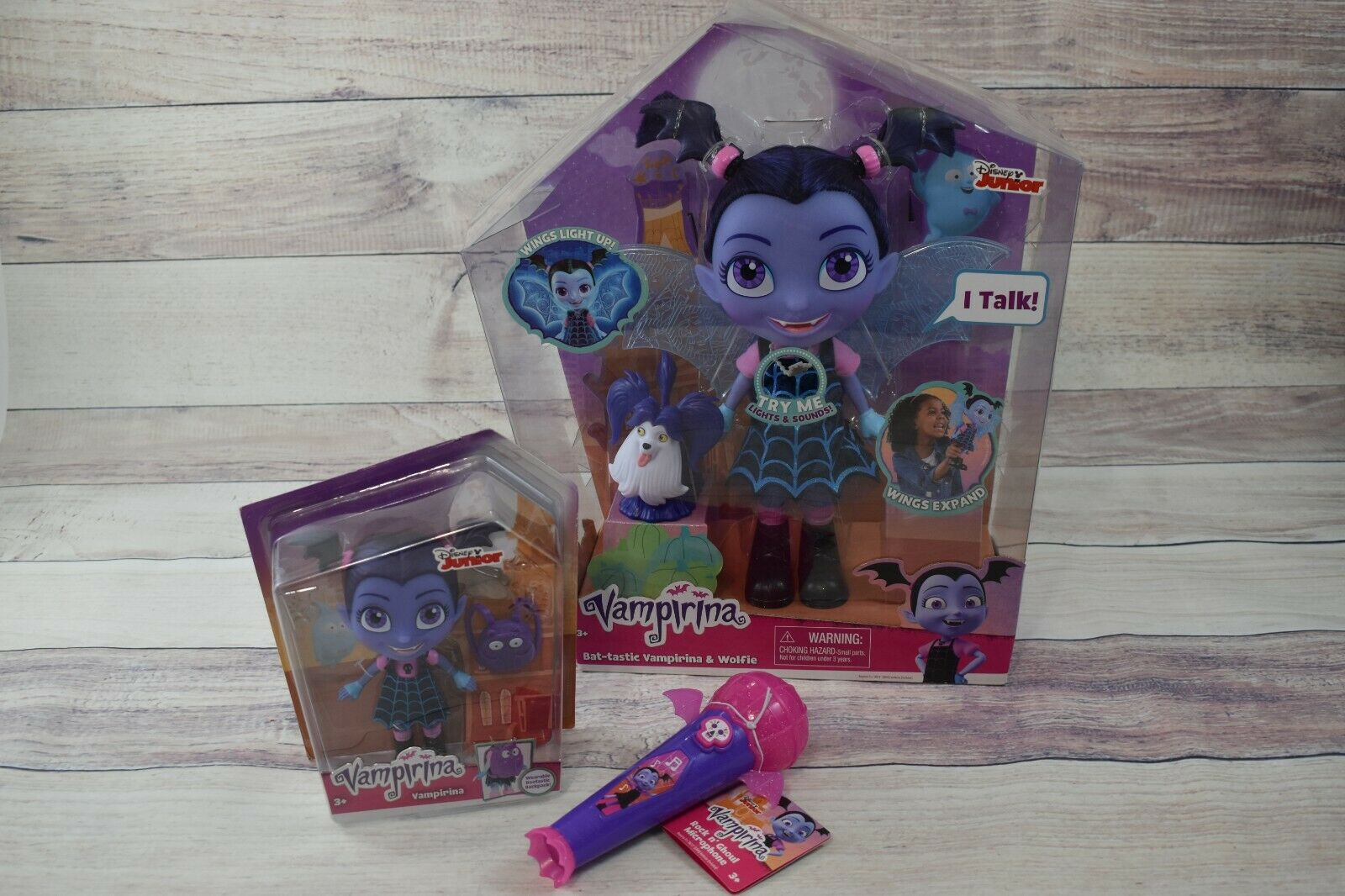Vampirina Bat-Tastic Talking Doll Small Doll and Light up Microphone with Music