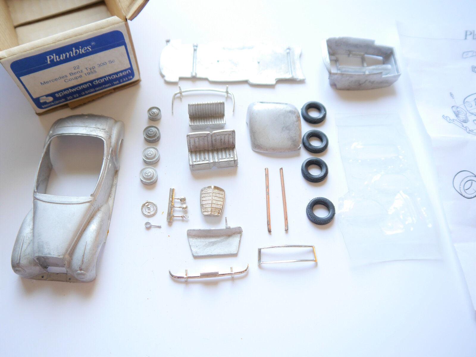 MERCEDES MERCEDES MERCEDES Type 300 SC Coupe 1955, blancmetall-Kit WM-Kit Plumbies 22 1 43 en Boîte b5028e