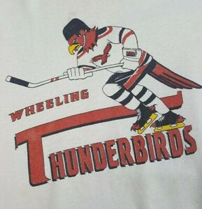 Vtg-Wheeling-Thunderbirds-Crewneck-Sweatshirt-XL-Throwback-Hockey-ECHL-Nailers