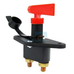 Battery Kill Switch Disconnect Cut Off Switch Car Truck Brass Electric Terminal