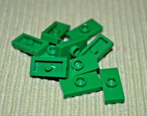 8 1x2 Green Tile w// Nub in Center Bricks ~ Lego  ~ NEW ~ Castle