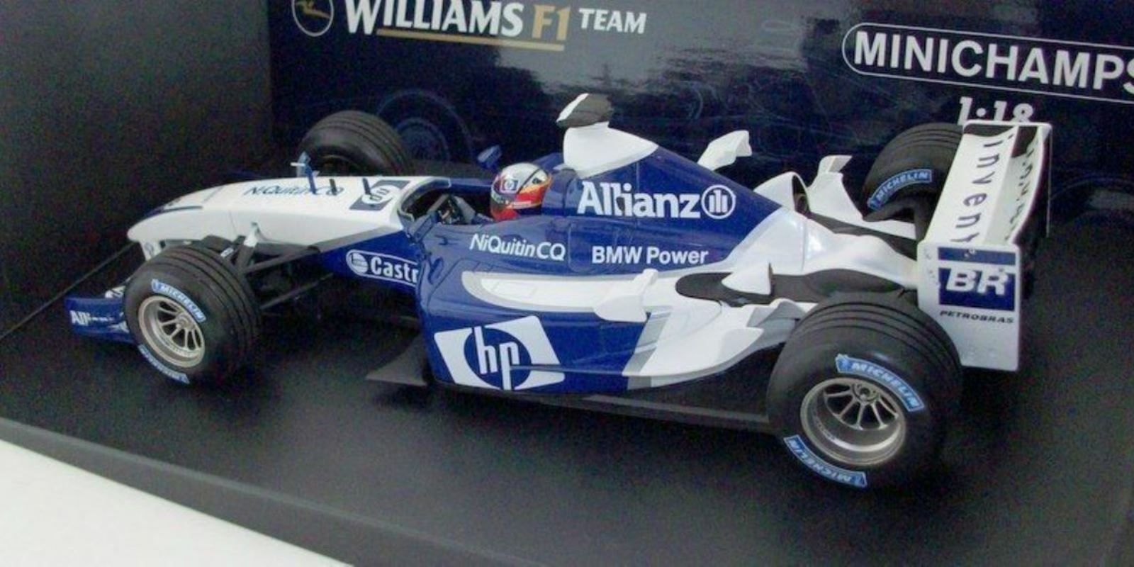 Wow extremadonnate raro Williams FW25 Montoya vice ganador Francia 2003 1 18 Minichamps
