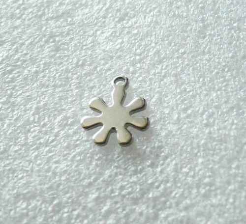10pcs Small Daisy Charms for Bracelet Earring Stainless Steel Flower Pendant