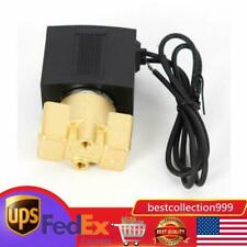 145psi Solid 14 Brass Electric Solenoid Valve Dc 12v Value For Water Air Gas