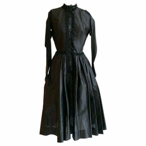 1950s Claire McCardell for Townley VTG Black Butto
