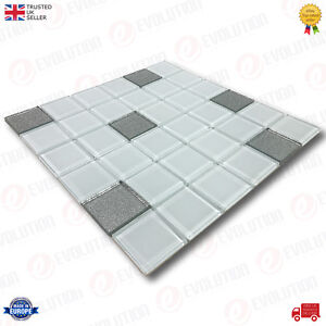 30-x-30-cm-GLASS-MOSAIC-WALL-TILES-SHEET-ICE-BLUE-WITH-SILVER-DETAILS-1-PC