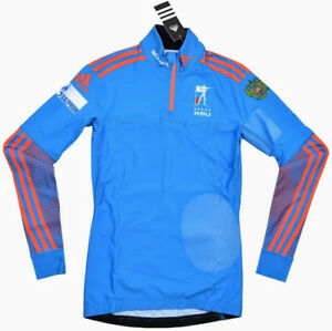 Details about Adidas athletes Top Race Top Jacket Skiing Biathlon IBUopenedDSV Woman Blue show original title