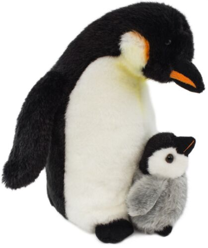 Plüsch Pinguin mit Baby 26 cm Plüschpinguin + Plüschbaby Stofftier Plüschtier