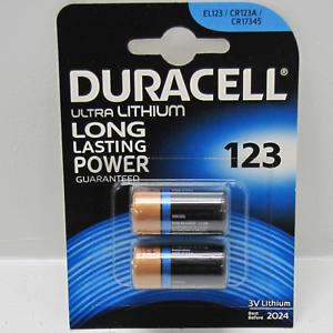 Pilas x 2 fotográficas Duracell Ultra 123 Litio 3V EL123 CR123A CR17345 M3