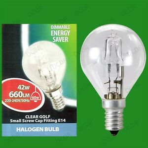 4x-42W-60W-Watt-transparent-a-variation-halogene-GOLF-economie-d-039-energie