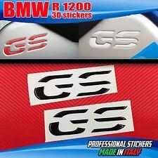 Coppia Adesivi Resinati 3D BMW GS Serbatoio R 1200 LC Nero Black