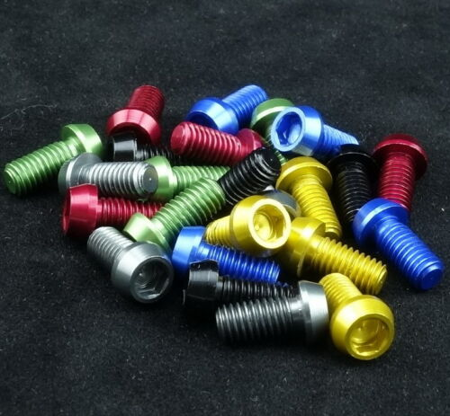 J/&L Water Bottle Cage Bolts 0.6g* 4pcs for-Elite,Enve,Tacx,FSA,Tune,Lightweight