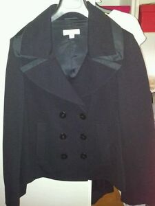 Original-LAUREL-Jacke-BLAZER-Sakko-CARDIGAN-Coat-JACKETT-Black-schwarz-36-NEU