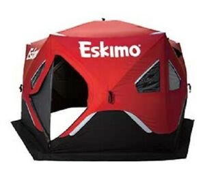 Details about Eskimo Fatfish 6120i Insulated Six Sided 5-7 Person Pop Up  Ice Fishing Shelter