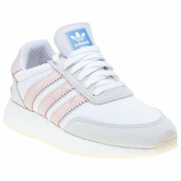 New Womens adidas White I-5923 Nylon Trainers Running Style Lace Up