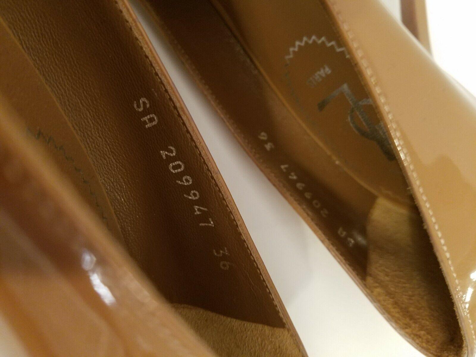 YSL Tribtoo Nude Patent Leather Platform Pumps 6/… - image 10