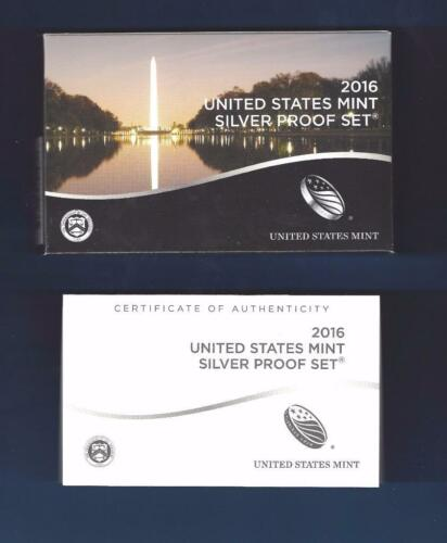 2016 SILVER Proof Set Replacement Box and COA ONLY