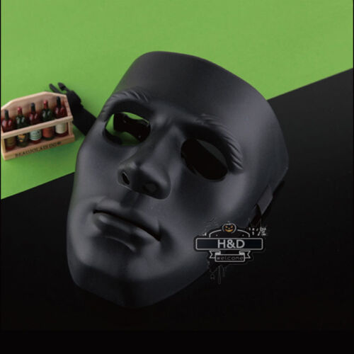 Horror Adult Men Black Halloween Face Masks Drama Costume Ghost Dance Step Party