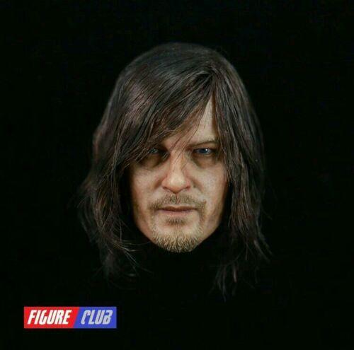 Figure Club 1/6th The Walking Dead Daryl Dixon Male Head Model NEW In Stock