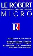 Le Robert Micro: Dictionnaire De La Langue Francaise Edition Poche by Collectif