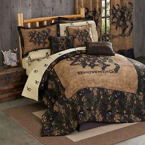 3d Deer Head Amp Camo Bedding Set Browning 3d Buckmark