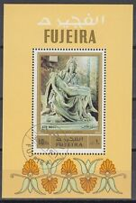 Fujeira 1972 Bl.91 A fine used c.t.o. Skulpturen Sculptures Michelangelo Pieta