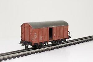 TRIX-Express-3418-H0-gedeckter-Gueterwagen-Kassel-mit-Bremserhaus