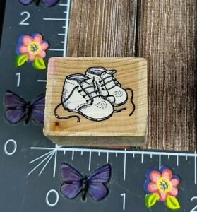 Infant Baby Walking Shoes First Rubber Stamp Shower Announcement Wood #C88