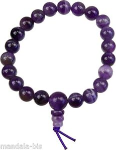 Bracelet Mala Tibétain - Améthyste