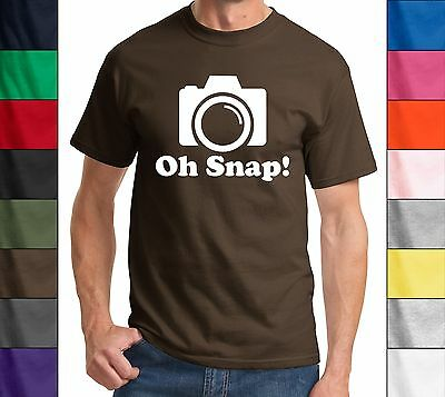 Oh Snap! Funny Photographer T-Shirt Holiday Gift Geek Camera Tee