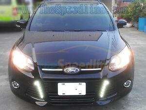 2011 2012 2013 2014 Ford Focus Mk3 Led Drl Daytime Running Light Fog Lamp Cover Ebay