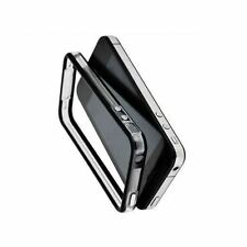 BLACK & CLEAR IPHONE 4 GENUINE METAL BUTTON BUMPER CASE COVER AND SIGNAL BOOSTER