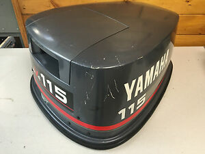1994 yamaha 115 hp 2 stroke v4 outboard engine top cowl cover hood image is loading 1994 yamaha 115 hp 2 stroke v4 outboard sciox Image collections