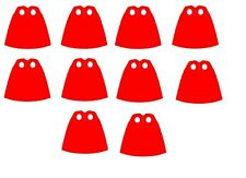 LEGO Lot of 10 Red Capes from Superman Minifigure - Authentic LEGO®