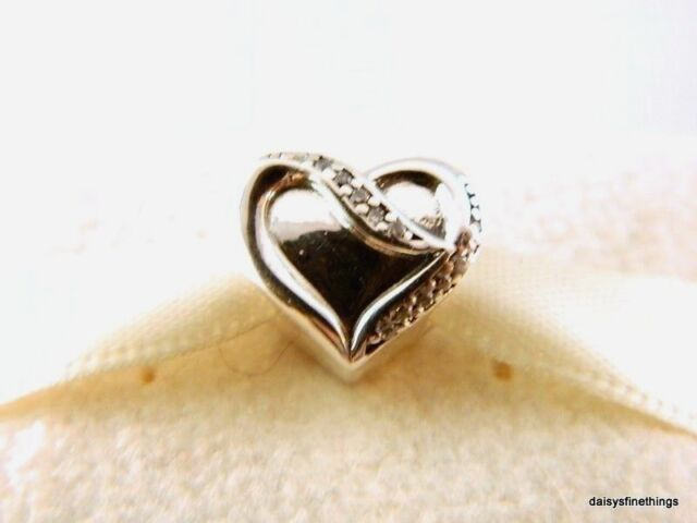 9195fd803 Authentic PANDORA Charm Sterling Silver Ribbon of Love Clear CZ 791816CZ