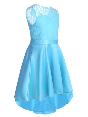 Kids Flower Girl Dress Pageant Princess Formal Mesh Dress Wedding Party Clothes