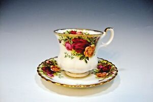 Royal-Albert-Bone-China-England-Old-Country-Roses-Coffee-Cup-and-Saucer-Set