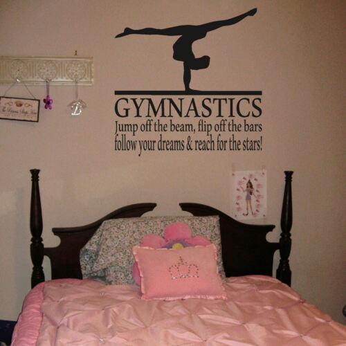 Gimnasia Niñas De Transferencia Pegatinas De Pared Decoración Dormitorio Gráfico Calcomanía gimnasta Reino Unido