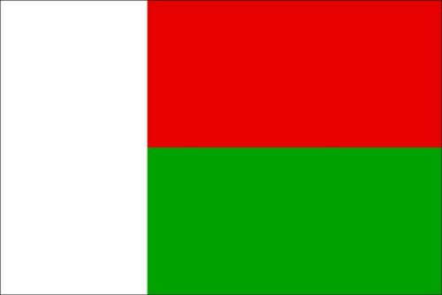 MADAGASCAR COUNTRY VINYL FLAG DECAL STICKER