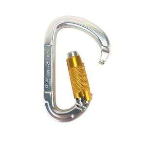 25KN Carabiner Clip Heavy Duty Aluminum D-Ring Hook Screw Lock Rock Climbing