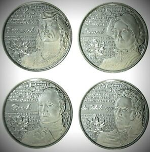 Canada-2012-2013-War-of-1812-4-Coin-Frosted-Commemorative-Quarter-Set