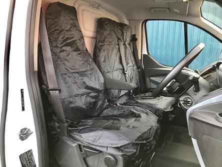 Ford Transit Custom 2017-Van Fundas De Asiento De Nylon Negro Resistente Impermeable 2+1
