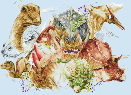 Diamond Painting Dotz GONE BUT NOT FORGOTTEN 85 x 67cm Dinosaurs XL