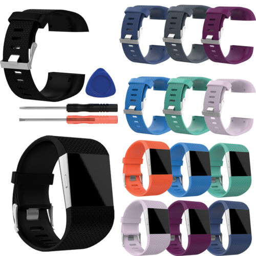 Tool Kit For Fitbit Surge Soft Silicone Rubber Replacement Band Wrist Strap