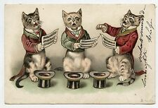 Chats chanteurs humanisés . Dressed cats . Katze . Gato. 猫